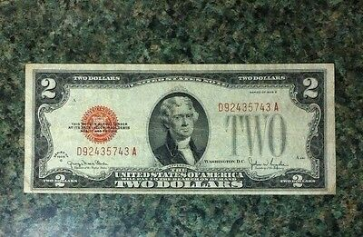 4 Count Lot1928,1953,1963, Red Seals Two Dollar Bills And 1976 Bi-Centenial Nice