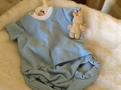 AUTHENTIC VINTAGE  INFANT BABY CHILDRENS 2 PIECE  ROMPER 3 MONTHS 70 s UNUSED