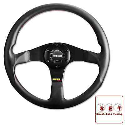 Momo Steering Wheel Tuner 320mm Black Leather with black centre