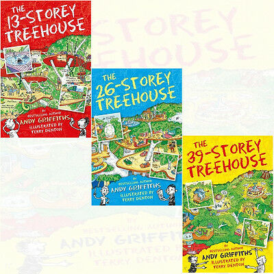 The 13-Storey Treehouse Collection 3 Books Set Andy Griffiths & Terry Denton NEW