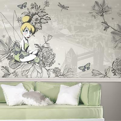 RoomMates Decor Vintage-style Prepasted Extra-large Chair Rail Tinkerbell Wall