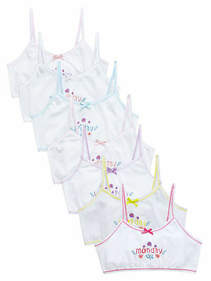 V By Very Girls Pack Of Five Crop Tops