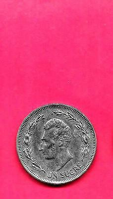 Ecuador Km85.2 1986 Unc-Uncirculated Mint Large Old Sucre Coin