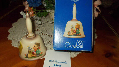 HUMMEL GOEBEL 1978 FIRST EDITION ANNUAL BELL in BAS-RELIEF W. GERMANY - w/BOX