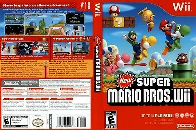 New Super Mario Bros. Wii Nintendo Wii COMPLETE Case Manual & Game Disc 4-Player
