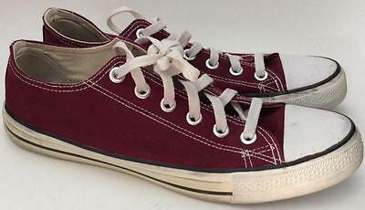 Converse All Star Lo Casual Sneakers Shoes~Men 7~Women 8.5~Dark Red burgundy