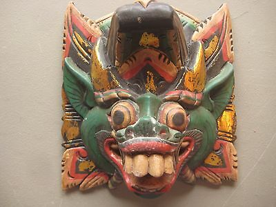 Large  Ceremonial Mask .... Hand Carved & Painted, #co-013
