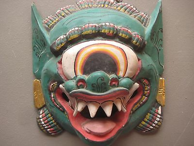 Large  Ceremonial Mask .... Hand Carved & Painted, #co-011