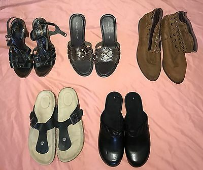 Huge Lot of 5 Women Shoes Sandals Boots Size 7