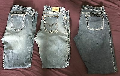 Huge Lot of 3 Women Jeans Size 16 Old Navy Route 66 Levi