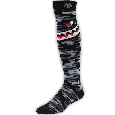 Troy Lee Designs Herren MX Socken - GP Socks P-51 - grau Motocross Enduro MX Cro