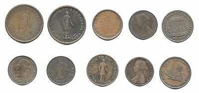 Canada Colonial Tokenc -Lot Of 10 Canada Colonial Tokens (Cns 833)