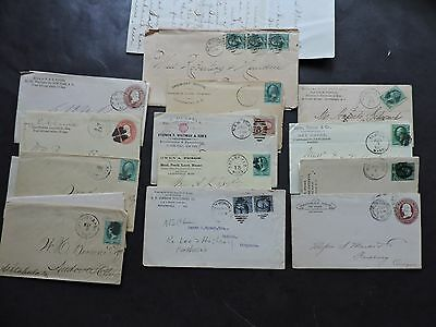 RARE LOT x13 AD COVERS 1800s CONTENT LETTERS FLYERS LETTERHEADS ! ADVERTISING !!