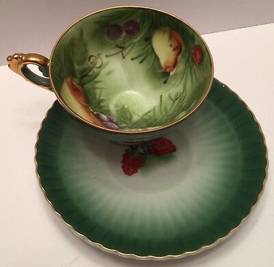 Lefton China Tea Cup & Saucer with tag - No. 20327 - Excellent Condition