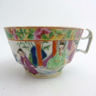 Chinese Canton Famille Rose Porcelain Large Tea Cup, 19Th Century
