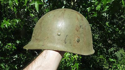 US WWII M-1 Helmet Liner - Seaman Paper Co w/ UNPAINTED A-Washers