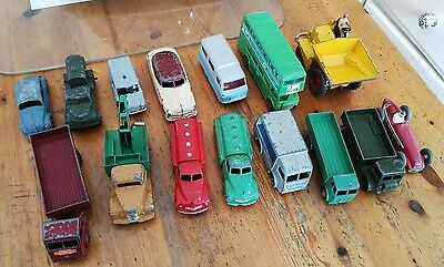 Dinky Toys job lot x14 1x corgi rare collectable die-cast
