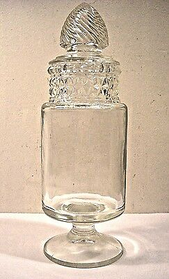Old Style Candy Store Glass Cylinder Jar With Fancy Lid