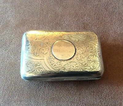 Pretty Engraved silver cigarette/card case-Chester 1914-57grms