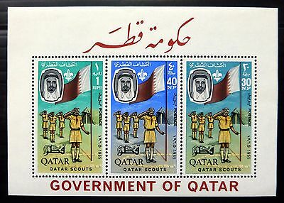 QATAR 1965 Scouts M/Sheet MS61a U/M NB2498