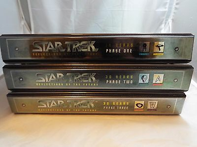 Star Trek 30 Years Complete Set Of Phase 1/2/3 Collectors Binders