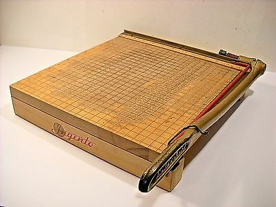Vintage Old School Ingento No.4 Wood And Iron Table Top Paper Cutter