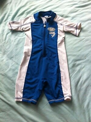 Baby Boys Gul Swimwear Sun Safe Wet Suit. Size 6-9 9-12 Months Protection