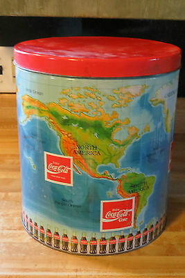 coca-cola advertising world 9 different enjoy coke languages vtg tin container