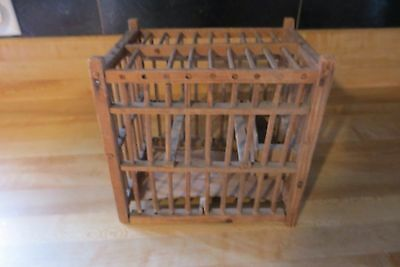 original wood coal miners bird cage,used to test air for gas