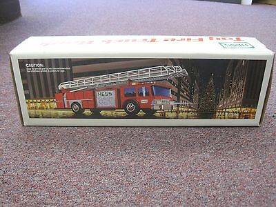 Vintage 1986 Hess Toy Fire Truck Bank - Mint in Box