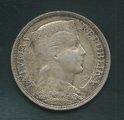 Latvia 1931, 5 Lati Silver, AU Condition, A GORGEOUS COIN!