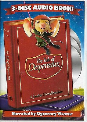 The Tale of Despereaux 3 disc CD audio book narrated by Sigourney Weaver