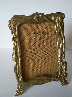Charming Art Nouveau Style  Brass Picture/photo Frame