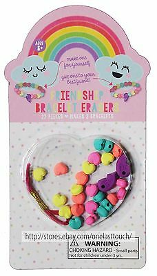 MADE FOR RETAIL 27pc FRIENDSHIP BRACELET ERASERS Makes 2 AGES 8+ Arts+Crafts NEW