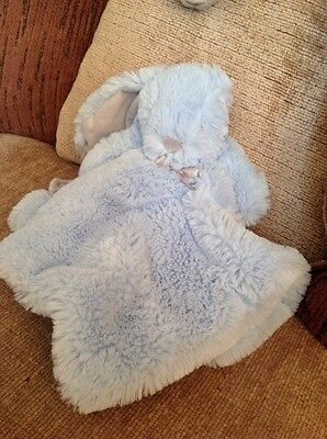 Blankets & Beyond pastel blue rabbit  plush comforter