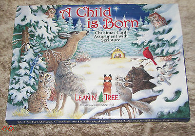 LEANIN TREE A Child is Born (with Scripture) Christmas Cards 2 ea. 10 designs