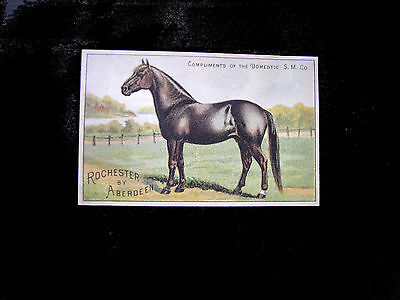 """Victorian Trad Card=DOMESTIC SEWING MACHINE=""""ROCHESTER by ABERDEEN""""-HORSE Champ"""