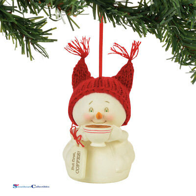 Dept 56 Snowpinions 4057417 But First, Coffee Ornament 2017