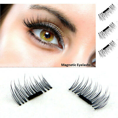 3D Magnetic False Eyelashes Natural Eye Lashes Extension 4 Pcs/1 Pair Handmade