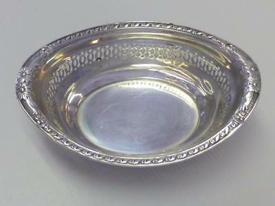 Victorian Flower Oval Gorham Sterling Silver Individual Candy / Nut Bowl