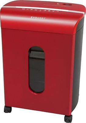 Embassy 12-Sheet Microcut Paper, Credit Card and CD/DVD Shredder - Red LM122Pii