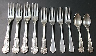 Lot 10 Pcs USN Silverplate Forks & Spoons
