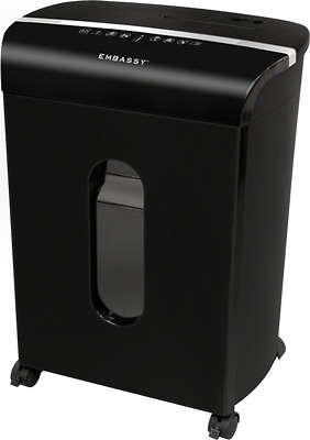 Embassy 12-Sheet Microcut Paper, Credit Card and CD/DVD Shredder - Black LM122P