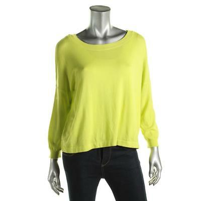 Cable & Gauge 3314 Womens Green Boatneck Pullover Sweater Top M BHFO