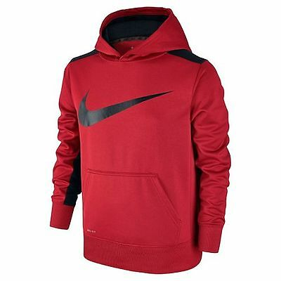 NWT Nike KO Logo Polyester Hoodie - Boy's Youth Size Small 8, Red/Black