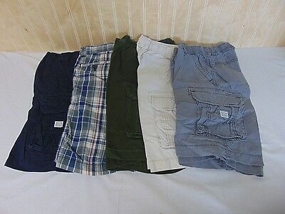 Lot of 5 Children's Place Boys Casual Summer Shorts Solid/Plaid  Size 8  Lot 1