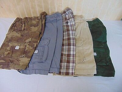 Lot of 5 Children's Place Boys Casual Summer Shorts Solid/Plaid Size 8  Lot 2