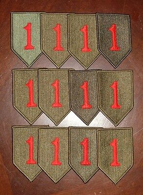 Lot of 12, US Army 1st Infantry Division Class A Patches G.I Issue New Big Red 1