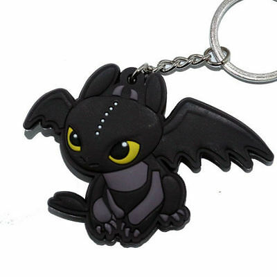 New How To Train Your Dragon Toothless Night Fury Pendant Rubber Keyring