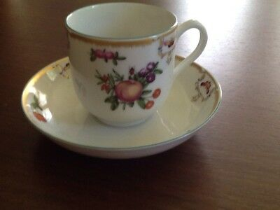 Mottahedeh Duke Of Gloucester Teacup Cup Williamsburg Butterflies Fruit